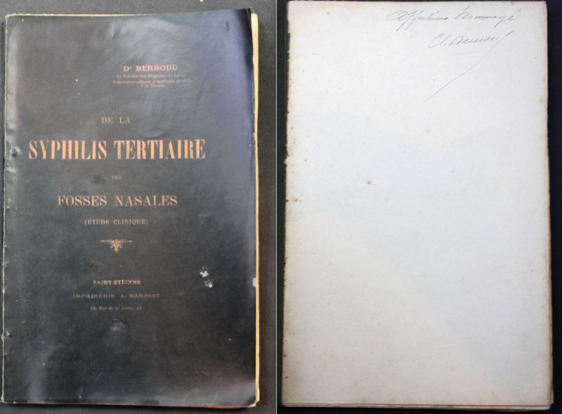 1898 Bernoud, Dr. De la Syphilis Tertiaire Medicine signed dedication copy