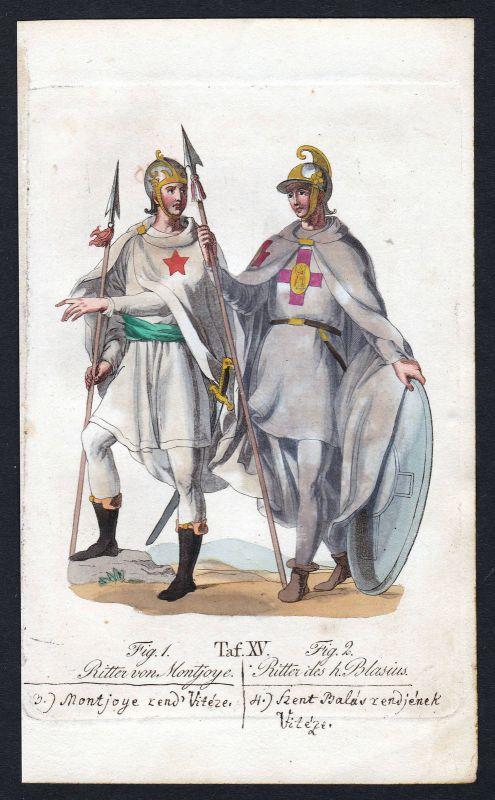 Ritterorden von St. Blasius Orden von Montjoie Order of Mountjoy Kupferstich
