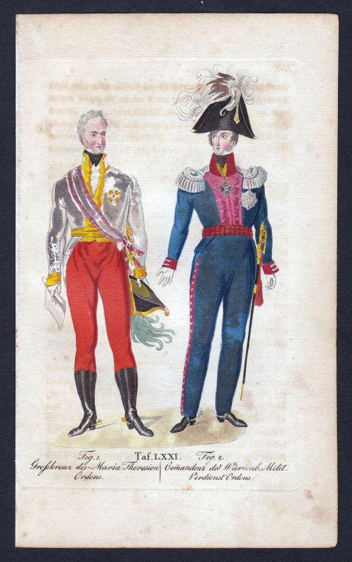 1820 Militär-Maria-Theresien-Orden Ritterorden Orden Kupferstich antique print