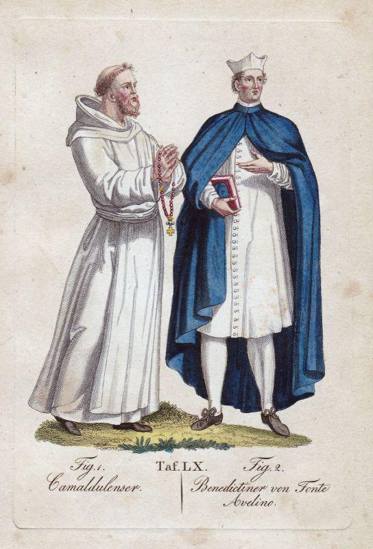 1820 Kamaldulenser Kamaldulenserorden Benediktiner Orden Kupferstich order