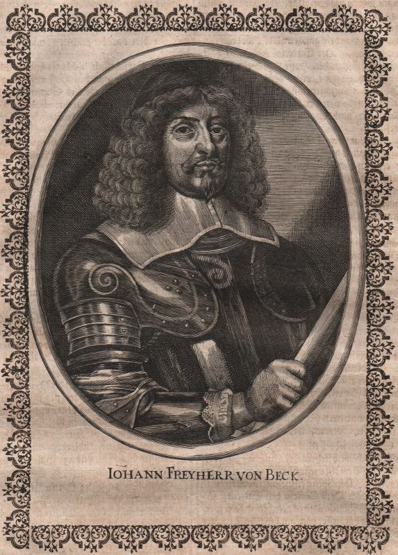 Jean de Beck duche de Luxembourg Portrait Kupferstich gravure Merian ca. 1650