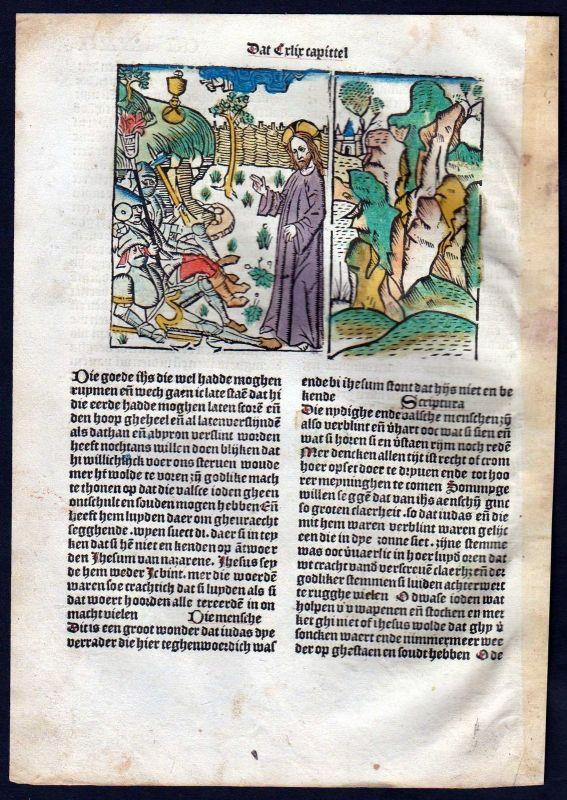 1499 Blatt CCLXXII Inkunabel Vita Christi Zwolle Holzschnitt woodcut incunable