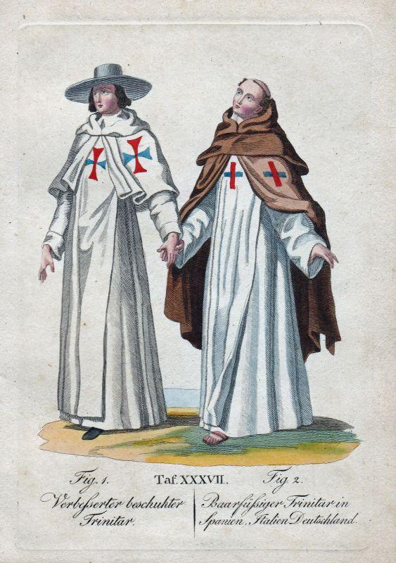 Trinitar Trinitarierorden Spanien Spain Italien Deutschland Orden Kupferstich