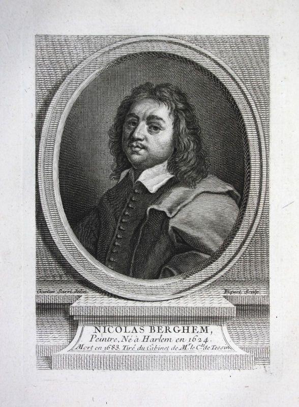 18. Jh. Nicolaes Berchem Maler painter peintre Kupferstich Portrait gravure