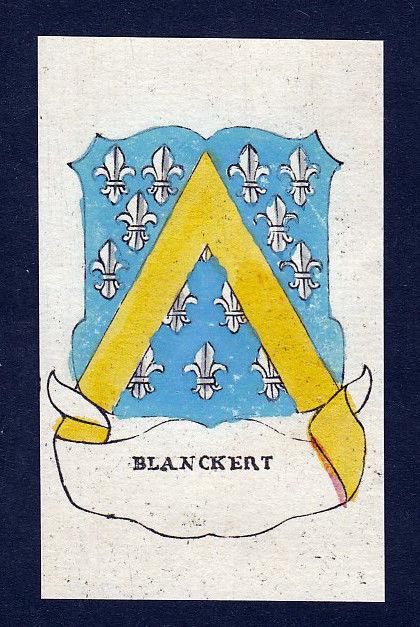 1800 Blanckert Blankert Wappen Adel coat of arms Heraldik Kupferstich engraving 0