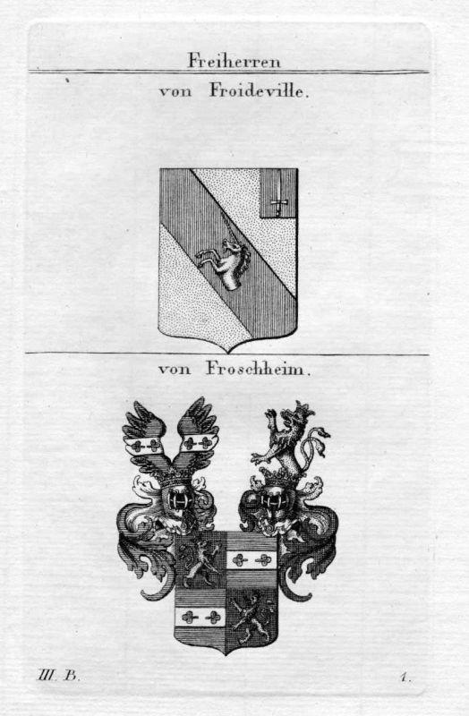 Von Froideville / von Froschheim / Bayern - Wappen coat of arms Heraldik heraldr