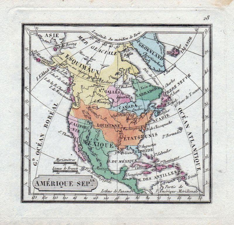 1817 Canada Nova Scotia North America map Karte Thomson Kupferstich ...