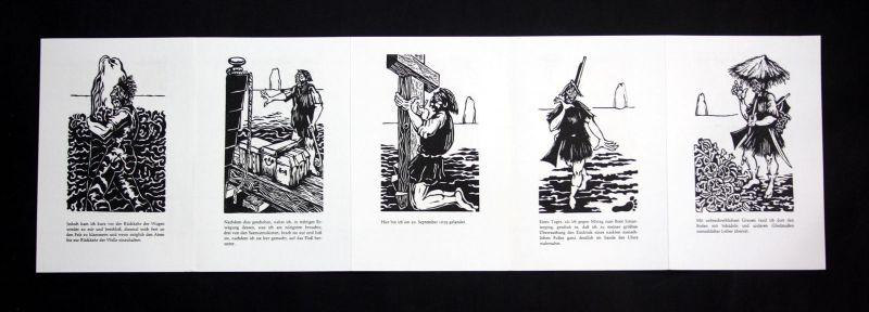 1977 Hermet Ripe Daniel Defoe Originallinolschnitte zu