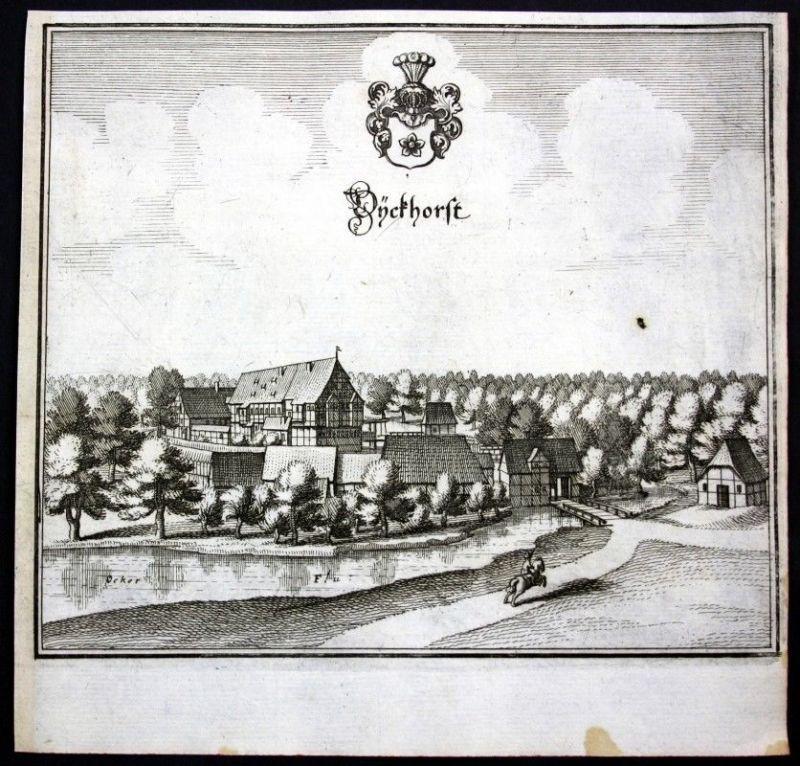 Dieckhorst / Müden (Aller) / Meinersen - Kupferstich Merian Merian: