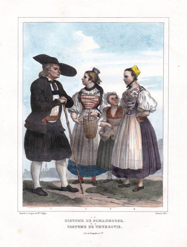 Schaffhausen Schafhouse Thurgau Thurgovie Schweiz Suisse Kostüme costums Litho