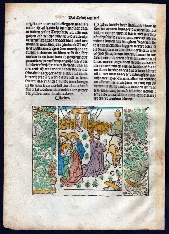 1499 Blatt CCLXVIII Inkunabel Vita Christi Zwolle Holzschnitt woodcut incunable