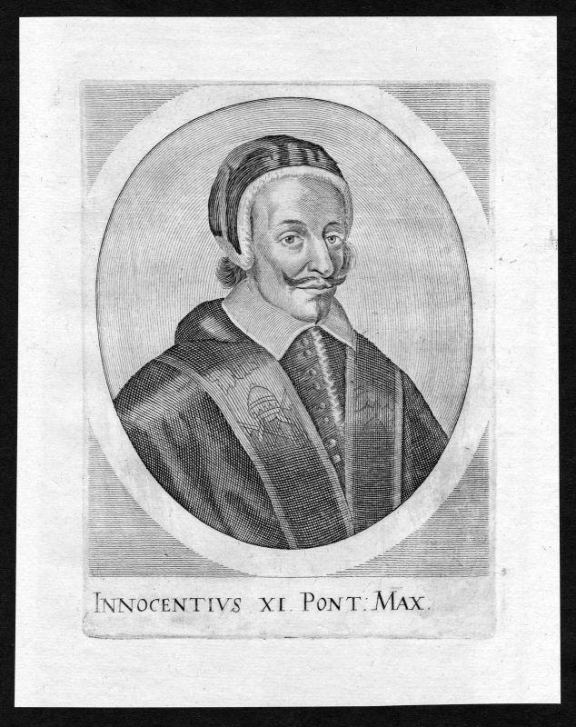 17. Jh. Innozenz XI. Innocent Papst Papa Pope Portrait Kupferstich antique print