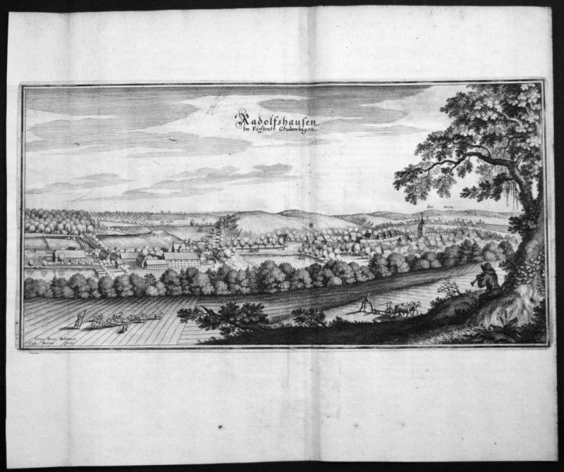 Radolfshausen - Fürstentum Grubenhagen - Kupferstich Merian Merian: