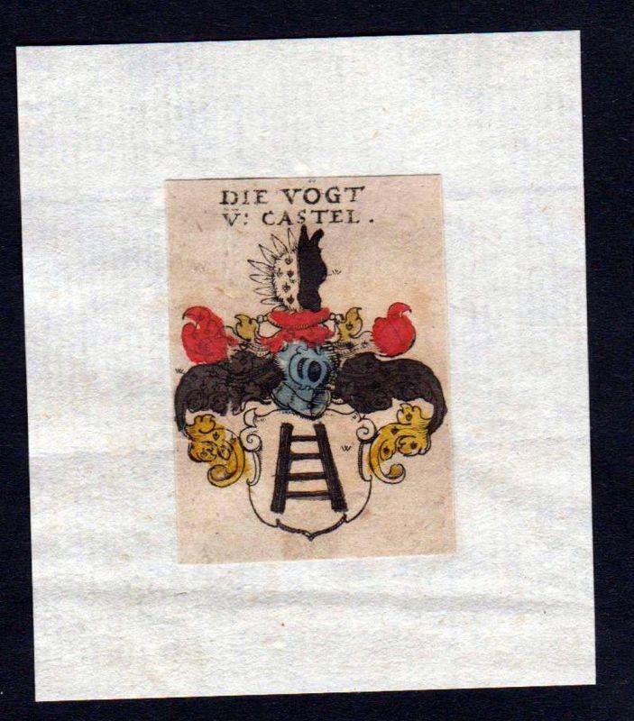 17. Jh Vogt Wappen coat of arms heraldry Heraldik Kupferstich