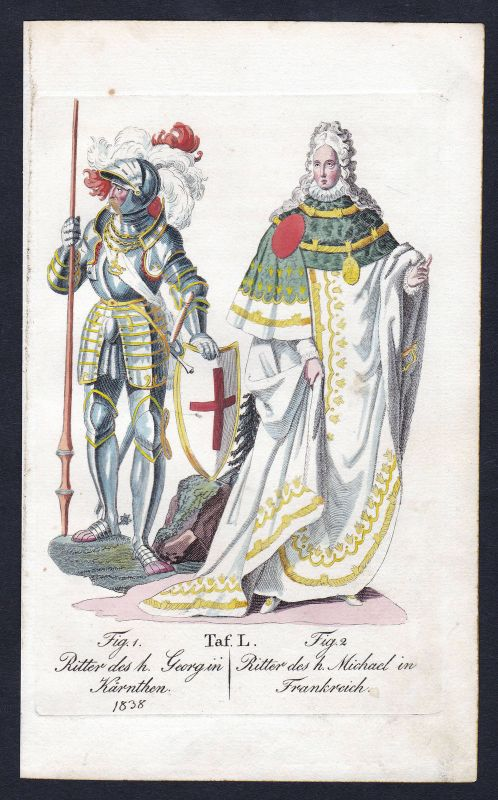 Ordre de Saint-Michel St. Georgs-Orden Ritterorden Kupferstich antique print