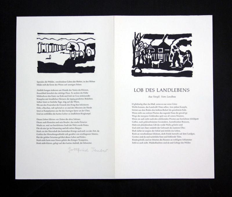 1990 Gottfried Teuber Original-Linolschnitt zu