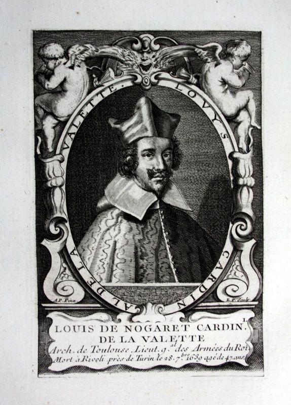 18. Jh. Louis de Nogaret de La Valette cardinal Kupferstich Portrait engraving 0