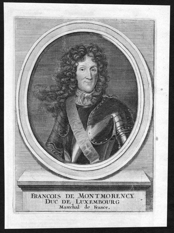 17. Jh Francois-Henri Montmorency-Luxembourg Portrait Kupferstich antique print 0