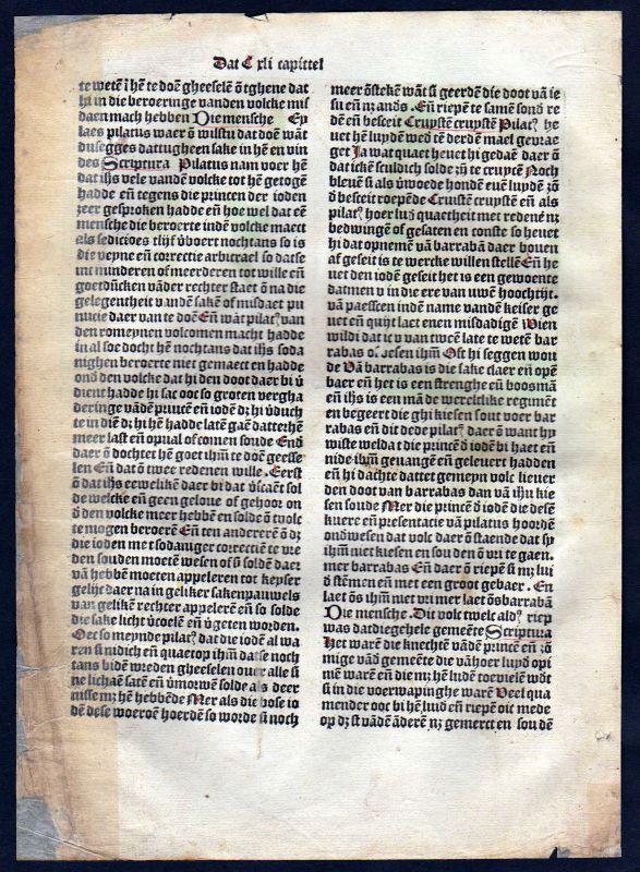 1499 Blatt CCLXXXII Inkunabel Vita Christi Zwolle Holzschnitt woodcut incunable 1