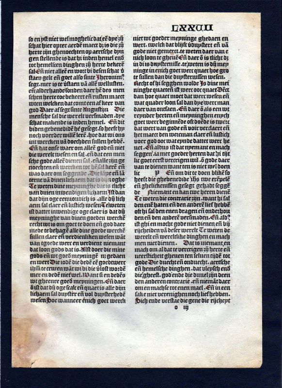 1499 Blatt LXXVII Inkunabel Vita Christi Zwolle incunable Dutch Holland 0