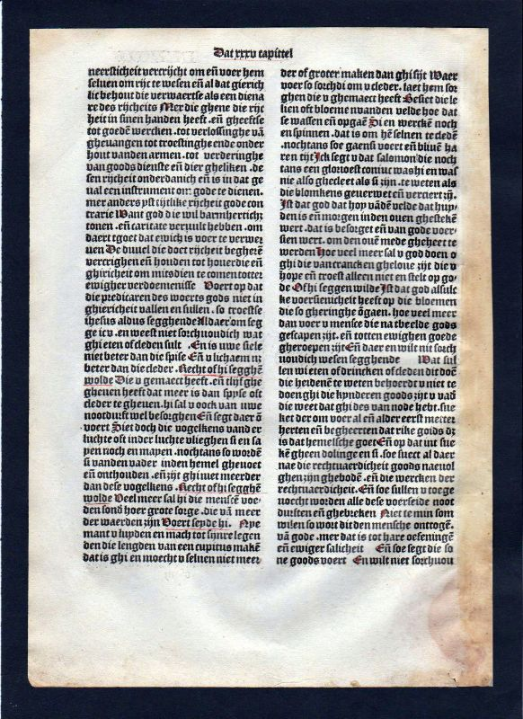 1499 Blatt LXXVII Inkunabel Vita Christi Zwolle incunable Dutch Holland 1