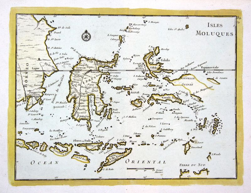 1767 Maluku Islands Indonesia Karte map Kupferstich antique print Le Roug 159559