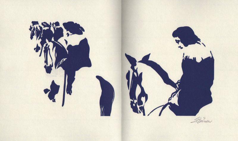 2002 Eduard Prüssen Original-Illustration Linolschnitt signiert