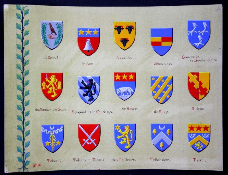 Solvet Son Soulier Sucy Talon Tailleurs Blason heraldique coat of arms 0
