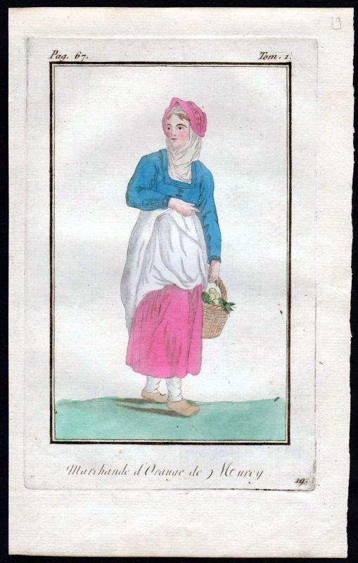 1780 Murcie Murcia Spanien Espana Spain costume Kupferstich Tracht antique print 0