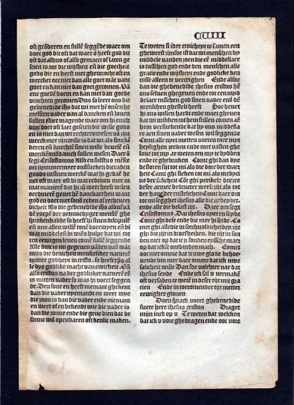1499 Blatt CVIII Inkunabel Vita Christi Zwolle incunable Dutch Holland 0