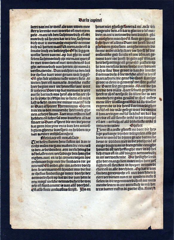 1499 Blatt CVIII Inkunabel Vita Christi Zwolle incunable Dutch Holland 1