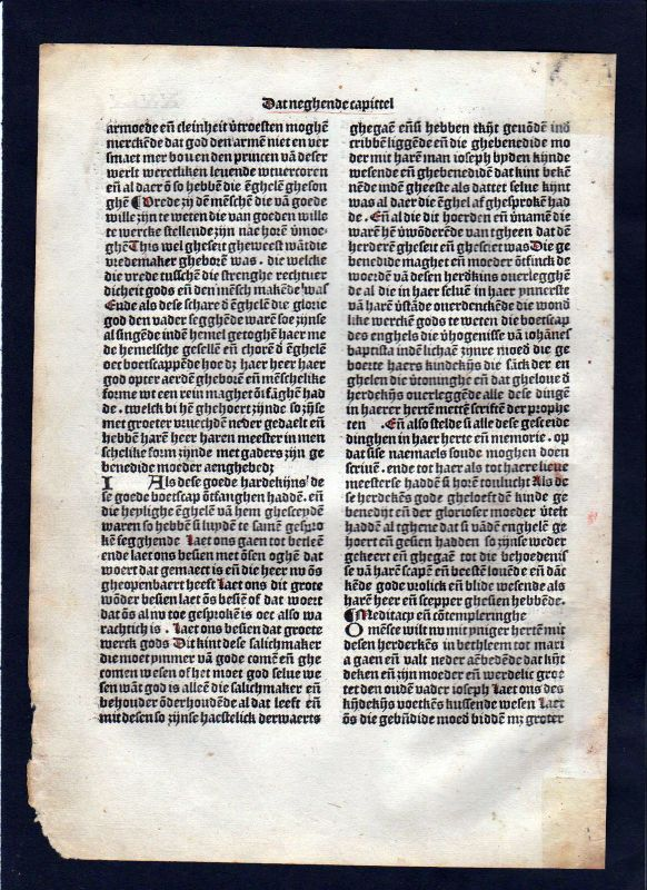 1499 Blatt XXIX Inkunabel Vita Christi Zwolle incunable Dutch Holland 1