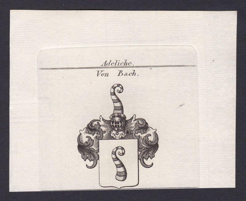 1820 Bach Bühl Baden Wappen Adel coat of arms Heraldik Kupferstich antique print 0
