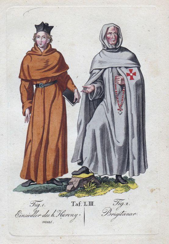 1820 Hieronymus Hieronymiten Hieronymitenorden Birgittenorden Orden Kupferstich 0