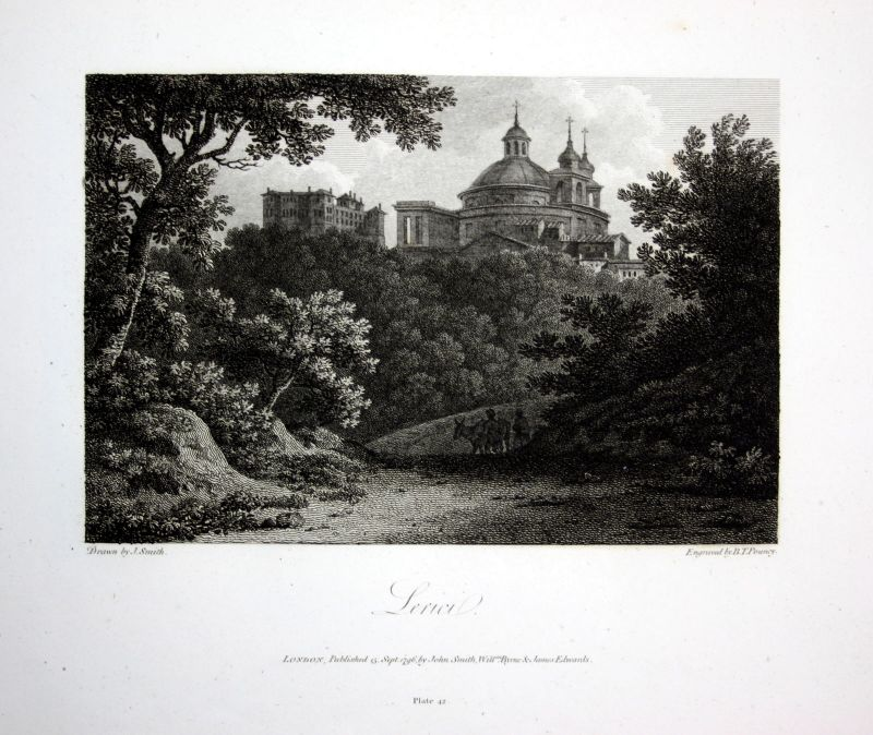 1796 Lerici Lerze Liguria Italia acquaforte insicione Kupferstich engraving