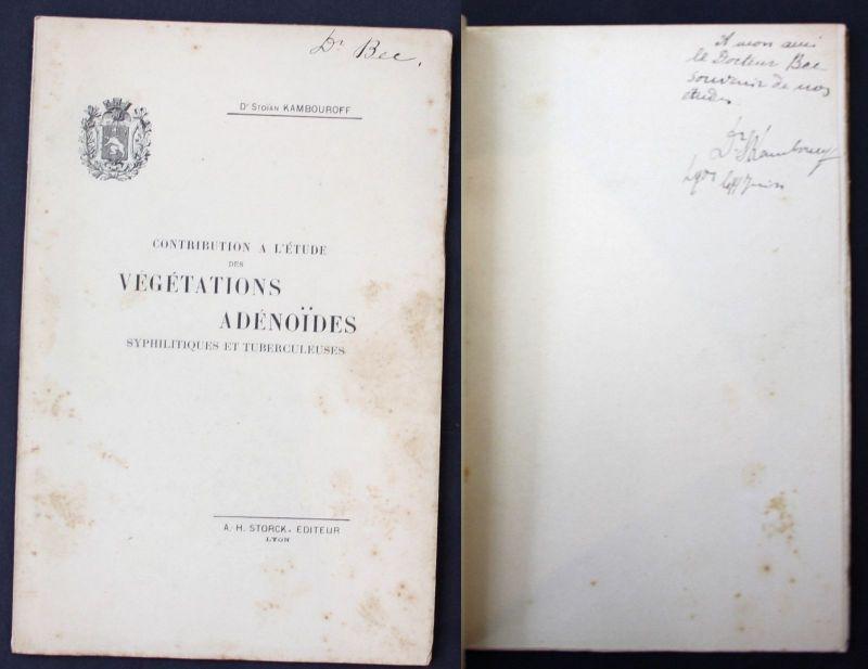1897 Kambouroff, S. Vegetations Adenoides Syphilitiques et Tuberculeuse Medicine 0
