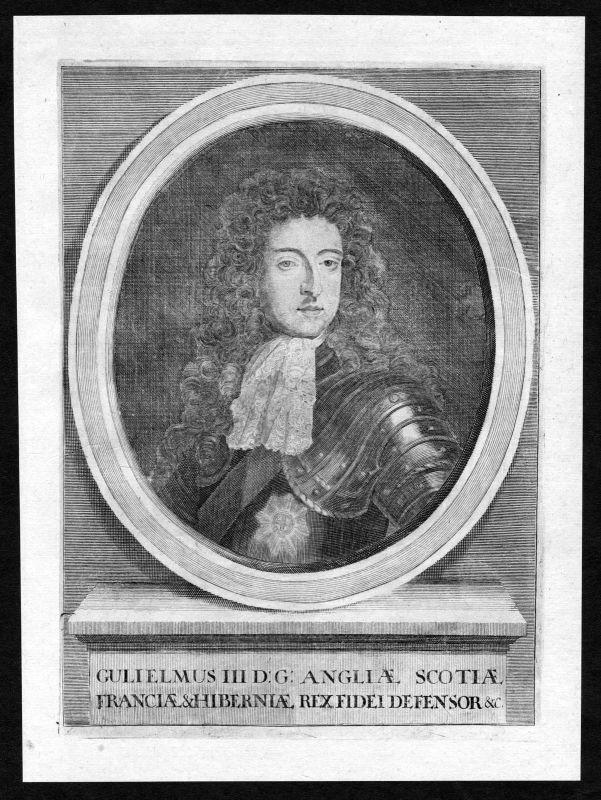 17. Jh. William III England Scotland Ireland Portrait Kupferstich antique print