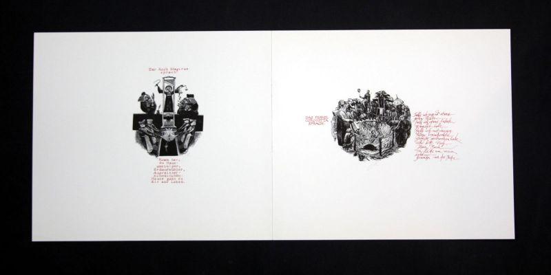 1990 Eduard Albrecht-Hagen Original-Holzstich signiert