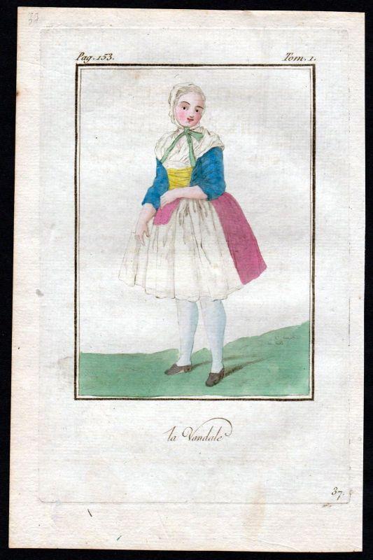 1780 - Vandale Skandinavien Scandinavia costume Kupferstich Tracht antique print 0