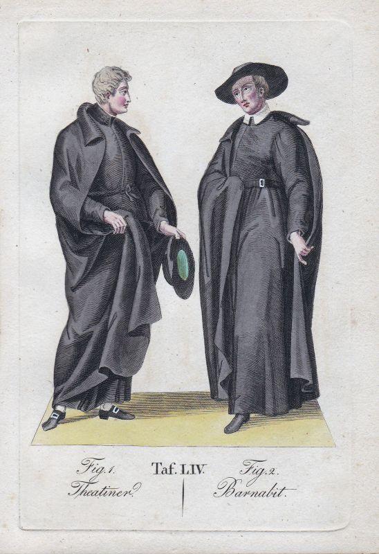 1820 Barnabiten Barnabitenorden Theatiner Theatinerorden Orden Kupferstich order 0