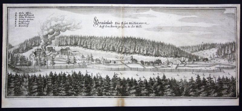 Braunlage / Harz / LK Goslar - Kupferstich Merian Merian: 0