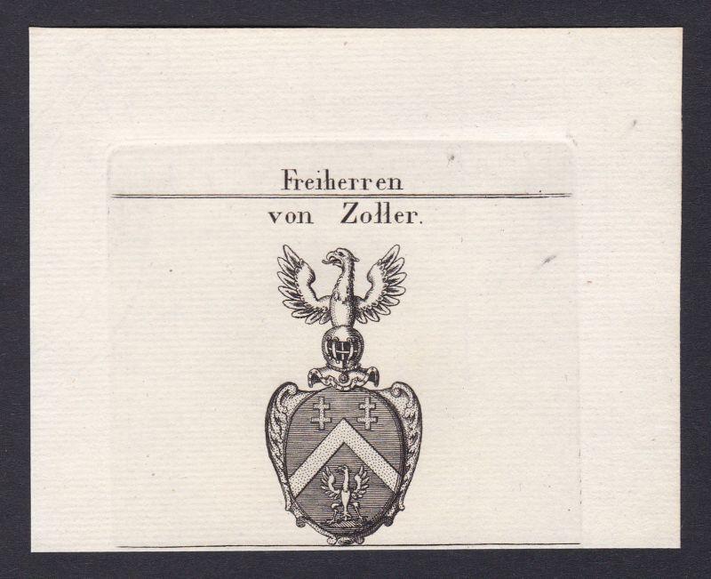 1820 Zoller Bayern Bavaria Wappen Adel coat of arms Heraldik Kupferstich 0