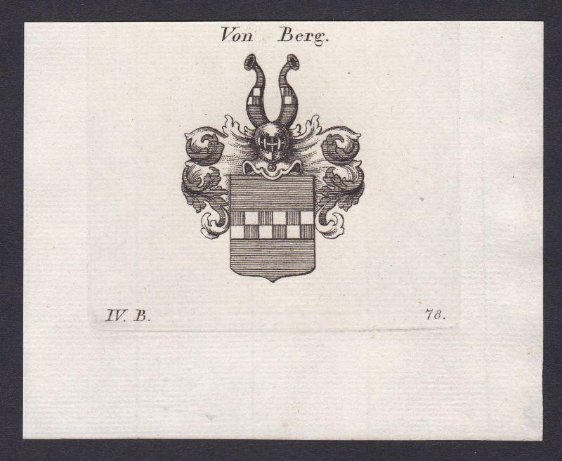 1820 Herzogtum Berg Wappen Adel coat of arms Kupferstich antique print 0