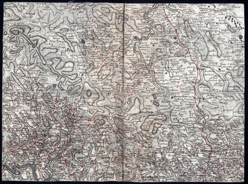 1807 Cesky Krumlov Haslach Frymburk Rohrbach Kupferstich Karte 0
