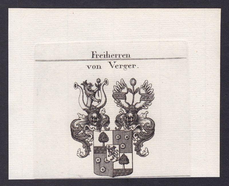 1820 Verger Slowenien Slovenia Wappen coat of arms Kupferstich antique print 0
