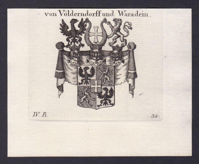 1820 Völderndorff Waradein Wappen Adel coat of arms Kupferstich antique print 0