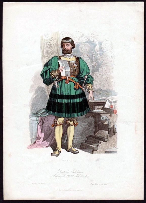 1880 - Edelmann Deutschland Germany Tracht Trachten costumes Grafik graphic