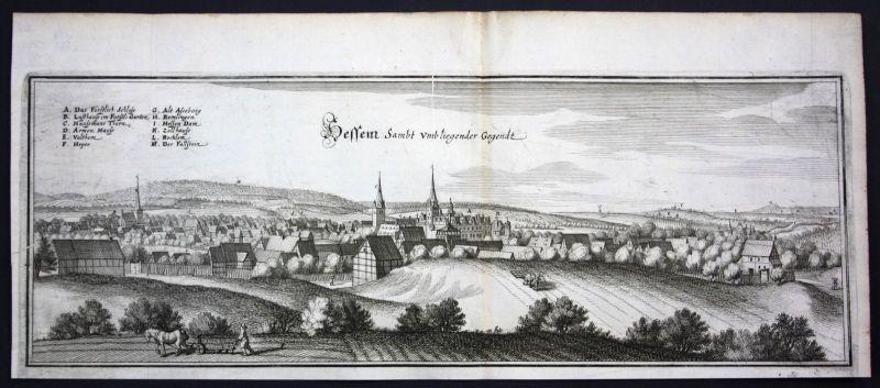 Hessen / Osterwieck - Gesamtansicht - Kupferstich Merian Merian: