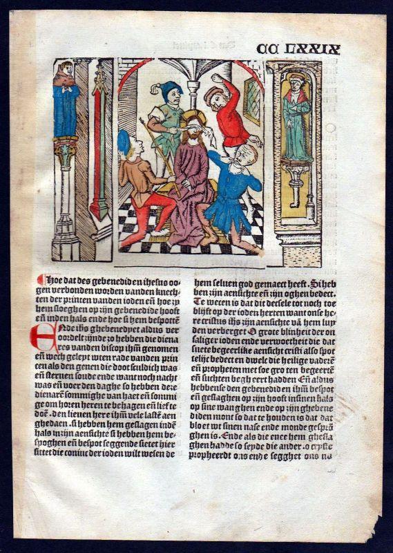 1499 Blatt CCLXXIX Inkunabel Vita Christi Zwolle Holzschnitt woodcut incunable