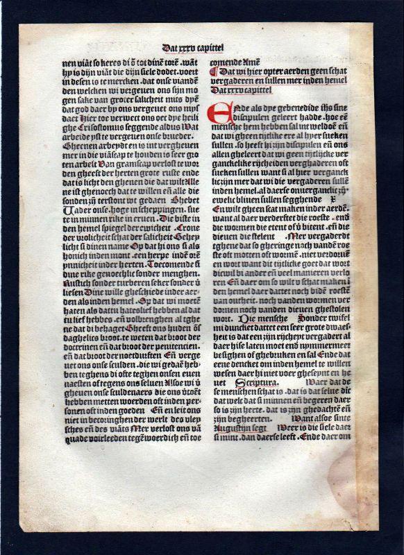 1499 Blatt LXXVI Inkunabel Vita Christi Zwolle incunable Dutch Holland 1